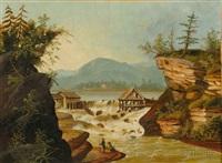 the sawmill at rockwell falls, lake luzerne, warren county, new york by thomas chambers