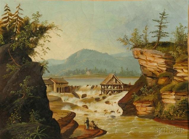The sawmill at Rockwell Falls, Lake Luzerne, Warren County