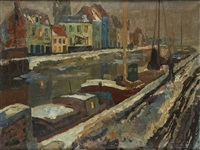 bords de canal enneigés by armand adrien marie apol