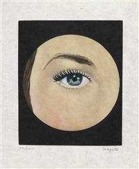 l'oeil (from le lien de paille) by rené magritte