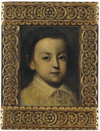 portrait of a young boy, with a lace collar by sofonisba anguissola