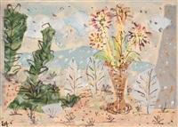 herbstliches stilleben in einer hügeligen landschaft by elisabeth ahnert