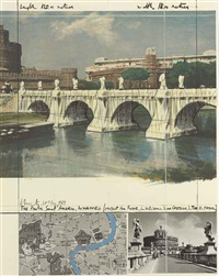 the ponte sant'angelo, wrapped, project for rom by christo and jeanne-claude