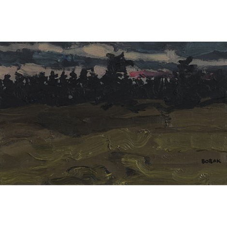 evening pines by bruno joseph bobak