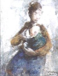 jonge moeder by alex wauters