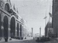 piazza san marco, venice by pierre achille poirot