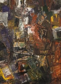 abstract with ladder by charles gassner