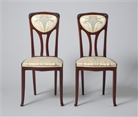 zwei jugendstil stühle by louis cambry