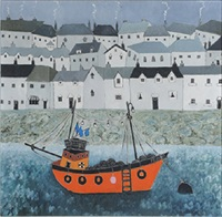 orange boat by joan gillchrest