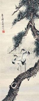 松鹤图 by xu yao