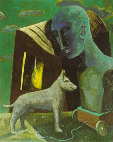 hund mit wagen by peter chevalier