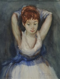 portrait of a dancer by allan davidson