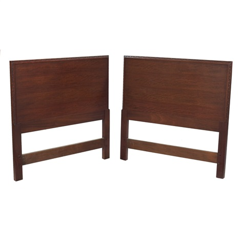 headboards pair by frank lloyd wright