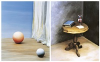 still life - two balls (+ still life - heart on table; 2 works) by yoo hyun mi