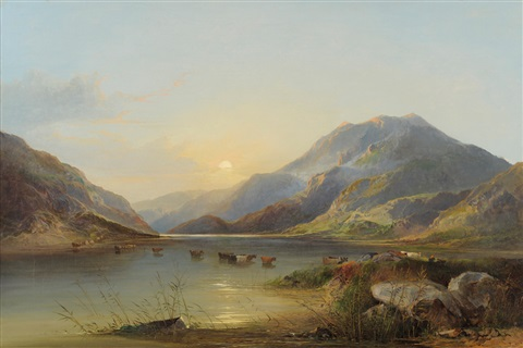 on the glaslyn north wales by edward charles williams