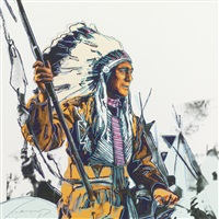 war bonnet indian (from cowboys and indians) by andy warhol