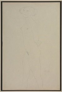 untitled (standing nude) by gustav klimt