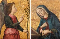 the archangel gabriel (+ the virgin annunciate; pair) by filippo (filippino) lippi