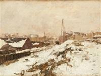 banlieue sous la neige by armand adrien marie apol
