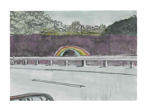 country rock tunnel by peter doig