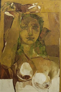 untitled (abstract woman) by jamil naqsh