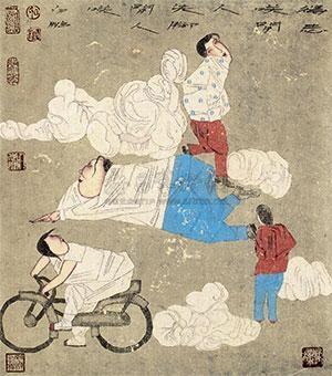 工笔人物 by bai peng