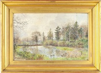 forest pond by william henry millais