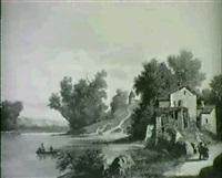 flusslandschaft by nicolas-victor fonville