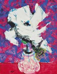 un vase des fleurs by bernard lorjou