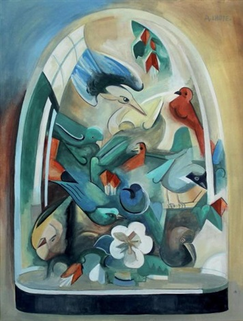 composition aux oiseaux by andré lhote