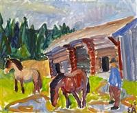 hästarne och stallet hans david där oppe på sandviken by erling ärlingsson