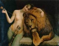 diana und der löwe by angelo comte de courten
