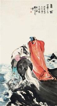 唐人诗意图 镜心 设色纸本 by liu danzhai