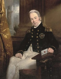 portrait of rear-admiral sir thomas byam martin in naval uniform and wearing the breast star of a knight commander of the order of the bath by sir charles lock eastlake