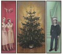 weihnachtsbild (in 3 parts) by almut heise