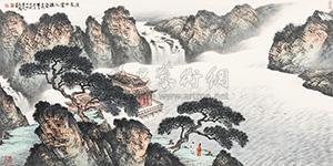 溪泉白云入楼台 landscape by ma jun