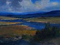 river landscape by anton benzon