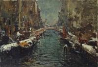 veduta di canale veneziano by alessandro catalani