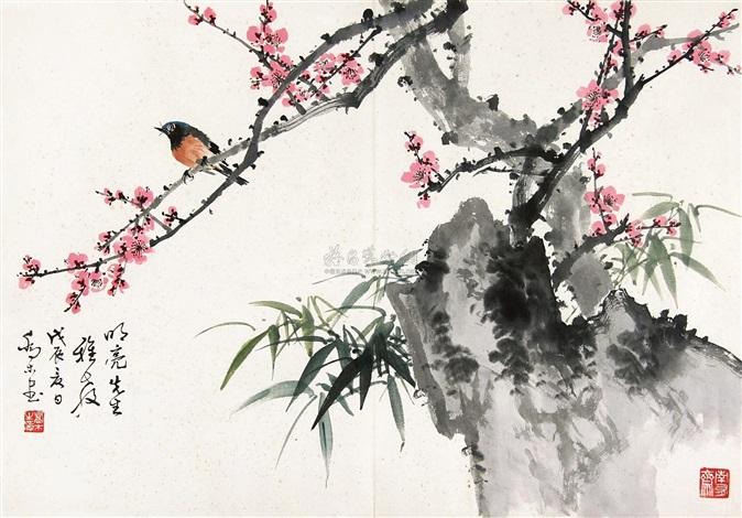 梅间翠鸟 by qiao mu