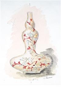 entwurf für eine doppelkürbisvase (s. folgende kat.- nr. 424) by eugène kremer