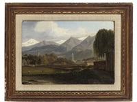 a mountainous landscape, outside rome by john (newbott) newbolt