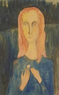 kvinna med blomma by mårten andersson