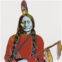 sitting bull (from cowboys and indians) by andy warhol