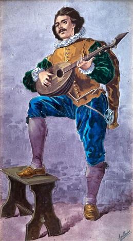 tocando la bandurria by manuel arellano y campos