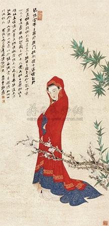 仕女 by zhang daqian
