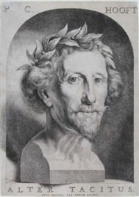 porträt des dichters pieter corneliszoon hooft) by johannes lutma the younger