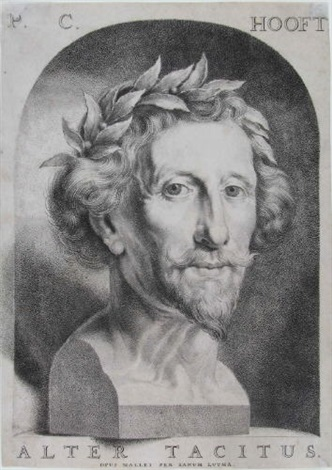 porträt des dichters pieter corneliszoon hooft by johannes lutma the younger
