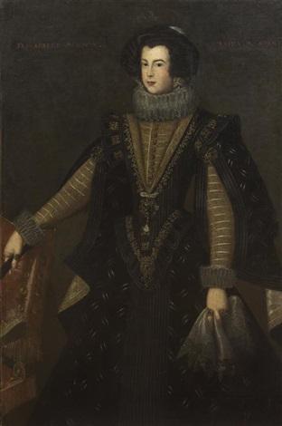 portrait of isabella bourbon queen of spain by bartolomé gonzalez