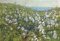 blossom at the dnjepr by nadezhda dmitrievna kompaniets