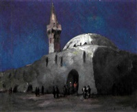 moschea in notturno by gino albieri
